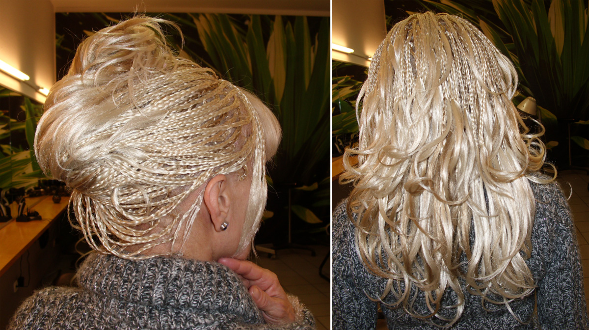 Haare einflechten haarverlangerung